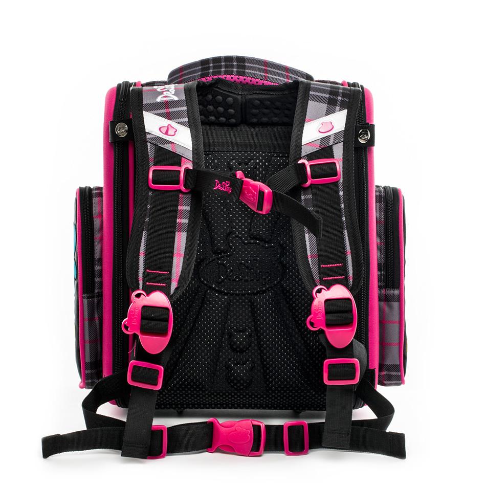 Delune 2018 New Cartoon School Bags Backpack for Girls Boys Bear Pattern Children Orthopedic Backpack Mochila Infantil Grade 1-5 Y18120303