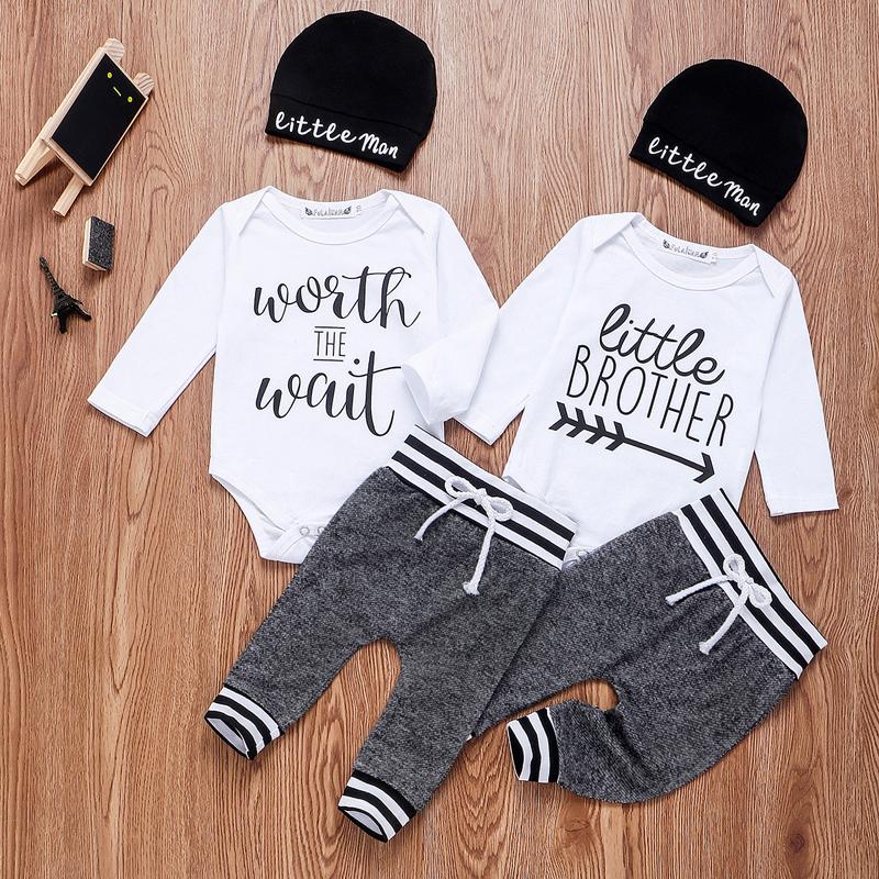 Cute Newborn Infant Kids Baby Girls Lettre Imprimé Ange Combinaison vêtements Outfit