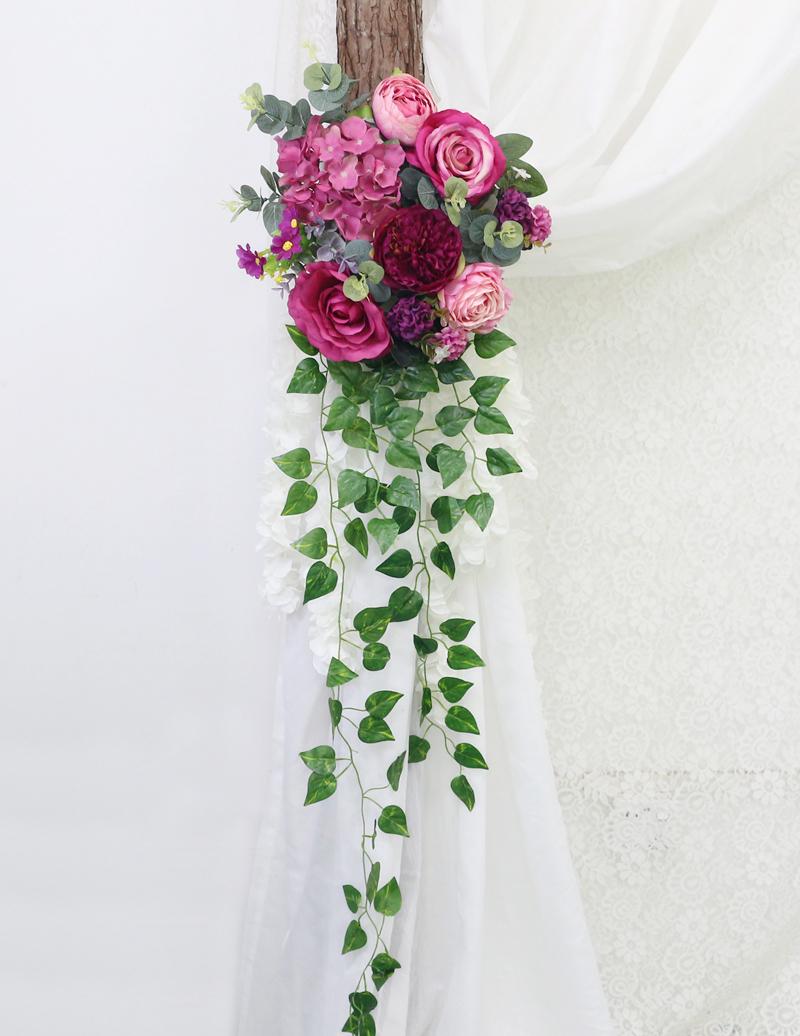 JAROWN Artificial Rose Flower Row Small Corner Flowers Simulation Silk Fake Flowers Wedding Decor Home Garland Decor Flores (9)