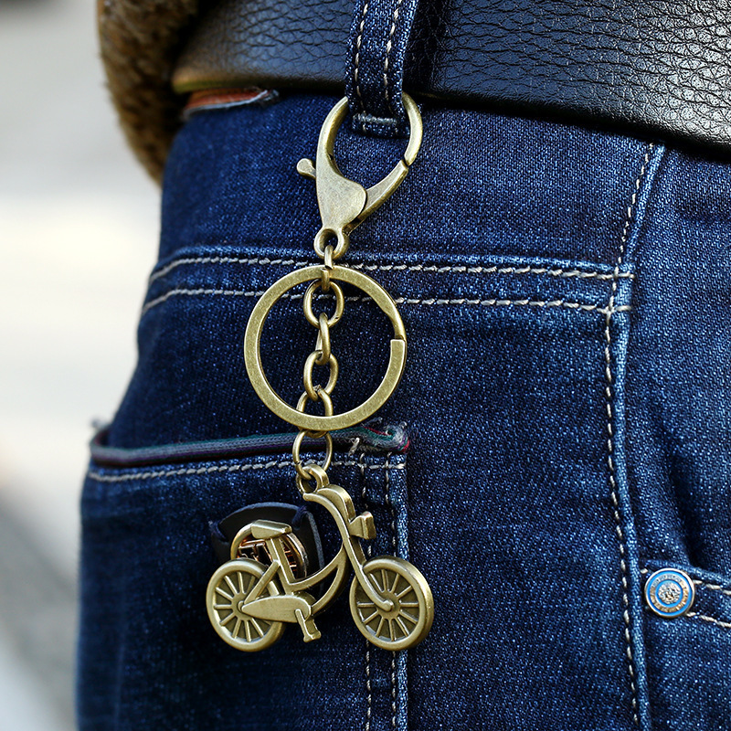 Trendy Vintage Camera Scorpion Pendant Antique Ring Cartoon Cute Bicycle Key Chain Braided Rope Trinket Gift for Men LL YUN C19011001