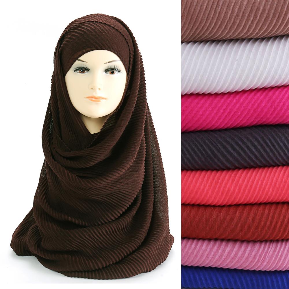 Viscose Crinkle Long Hijab//foulards-disponible dans une variété de couleurs