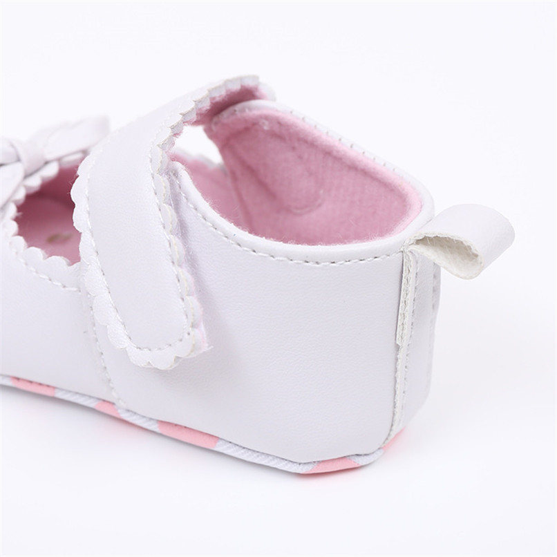 FashionNewborn Infant Baby Girls Crib Shoes Soft Sole Anti-slip Sneakers Bowknot Shoes NDA84L16 (15)