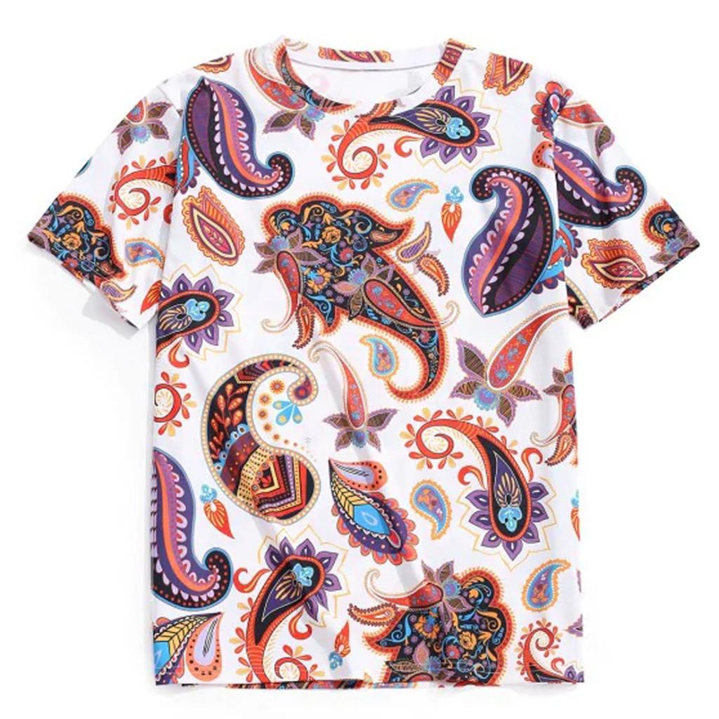 Men/'s Summer New Cartoon Aircraft Printed Round-Collar Comfortable T-shirt Tops