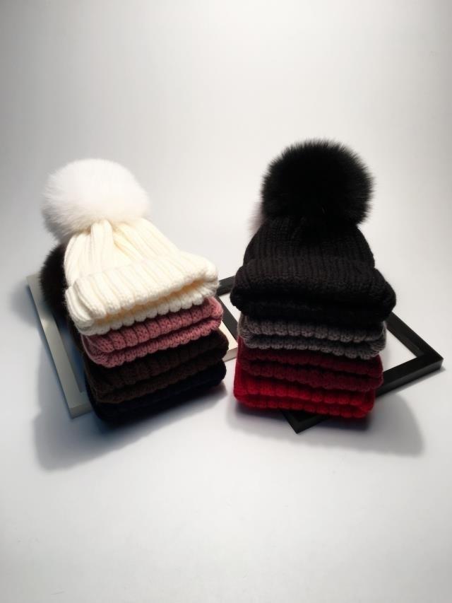 pompom hat fur hat winter hats for women knitted hat winter beanie hat women hat (31)