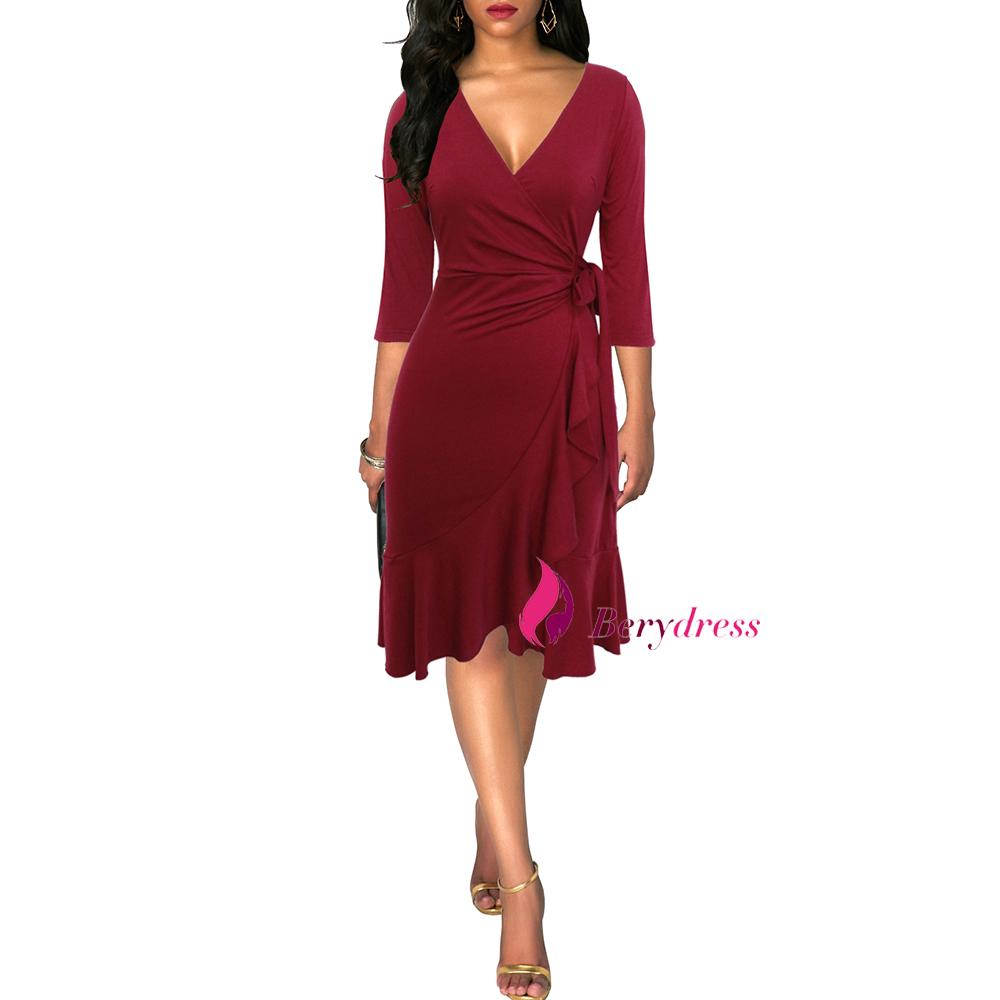 burgundy dress front-1