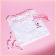 2018-New-Kawaii-Strawberry-Embroidery-Tshirt-Colorful-Neck-Cute-Tshirt-Womens-tee-Tops-Korean-Ulzzang-Cute