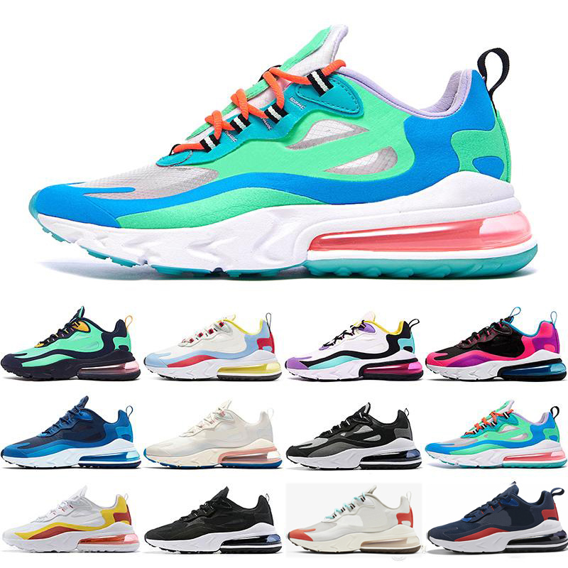 Nike air max React 270 Chaussures de plein air réagissent entraîneurs des hommes BAUHAUS HYPER JADE orange formateur gris OPTIQUES womens disigner