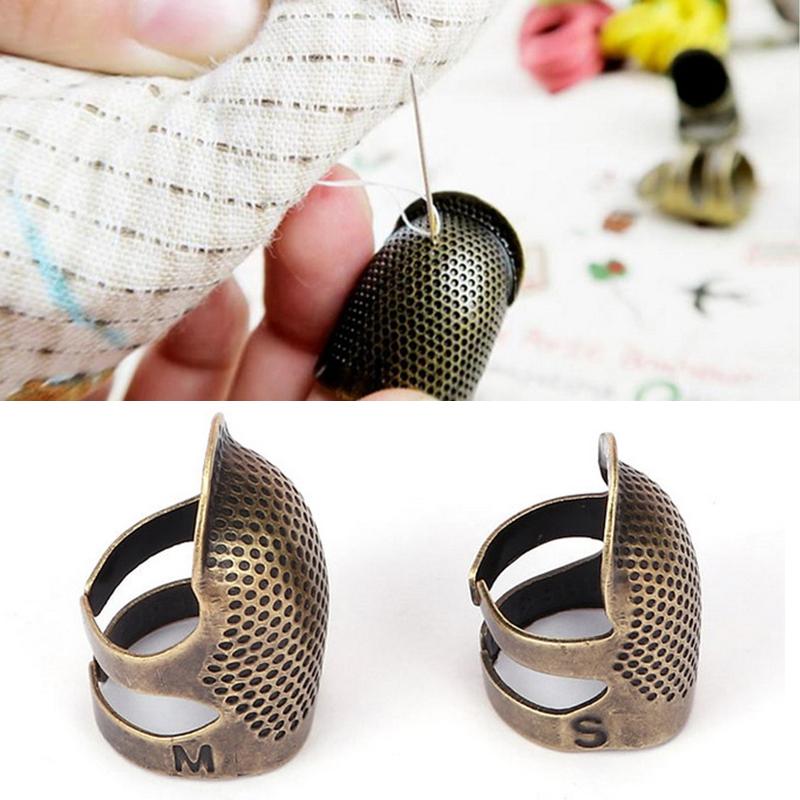 17mm Knitting dedal inoxidable gu/ías de acero del resorte del dedal anillo trenzado de la aguja de costura Accesorios de lana Tejido 1PC Herramienta