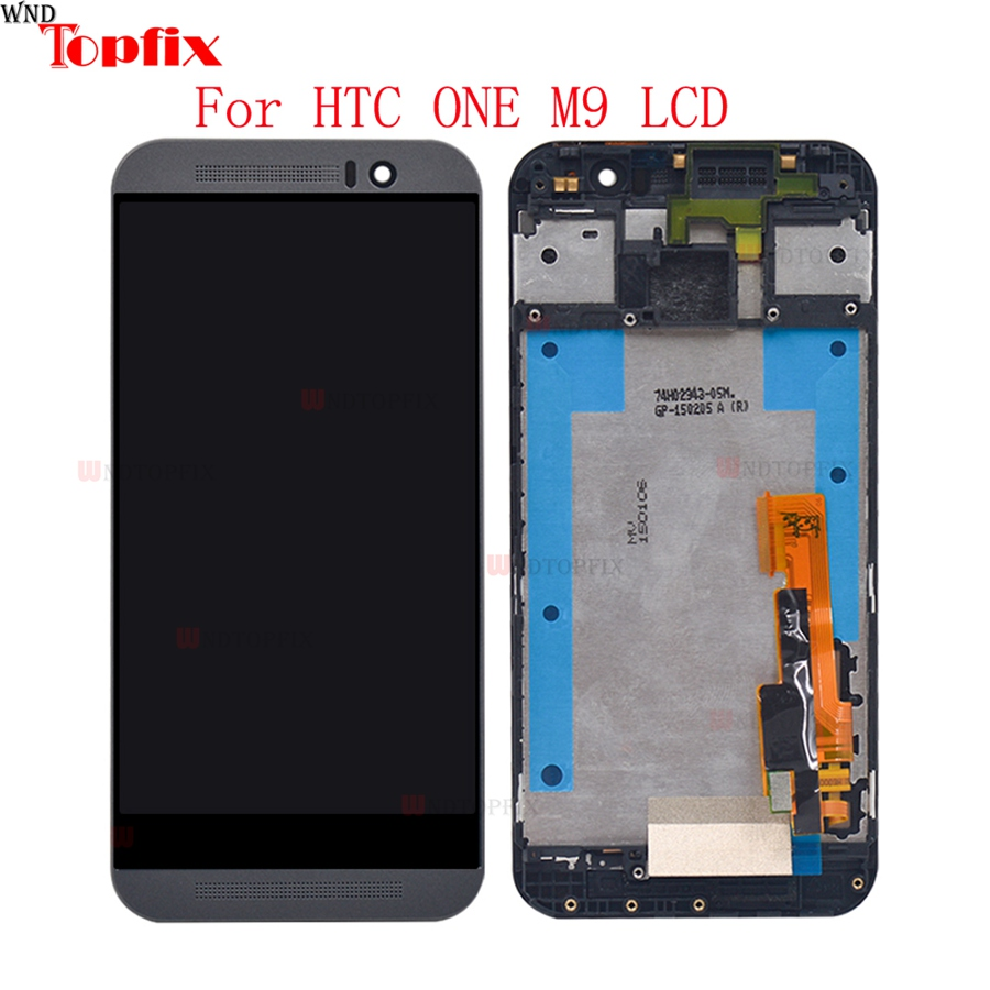 5.0inch 100% Tested For HTC One M9 LCD Display Touch Screen Digitizer Assembly With Frame Replacement Parts For HTC M9 One Hima (5)