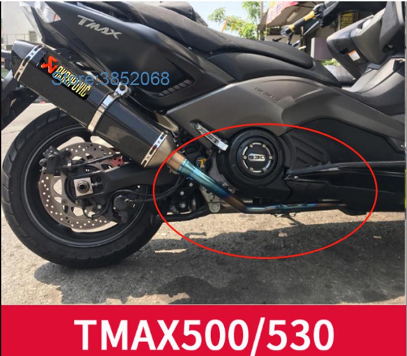 Carbone-Rouge Adh/ésif 3D Protection Silencieux Tmax 500-530 Pot D/Échappement pour Yamaha T Max 2008-2016