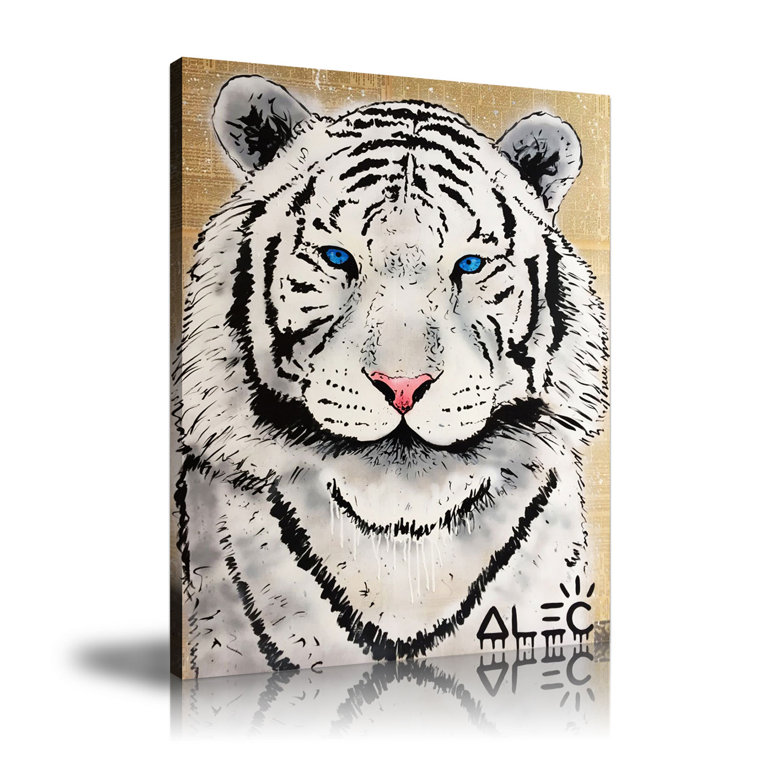 Por Atacado Pintura Tigre Branco Compre Baratos Pintura Tigre