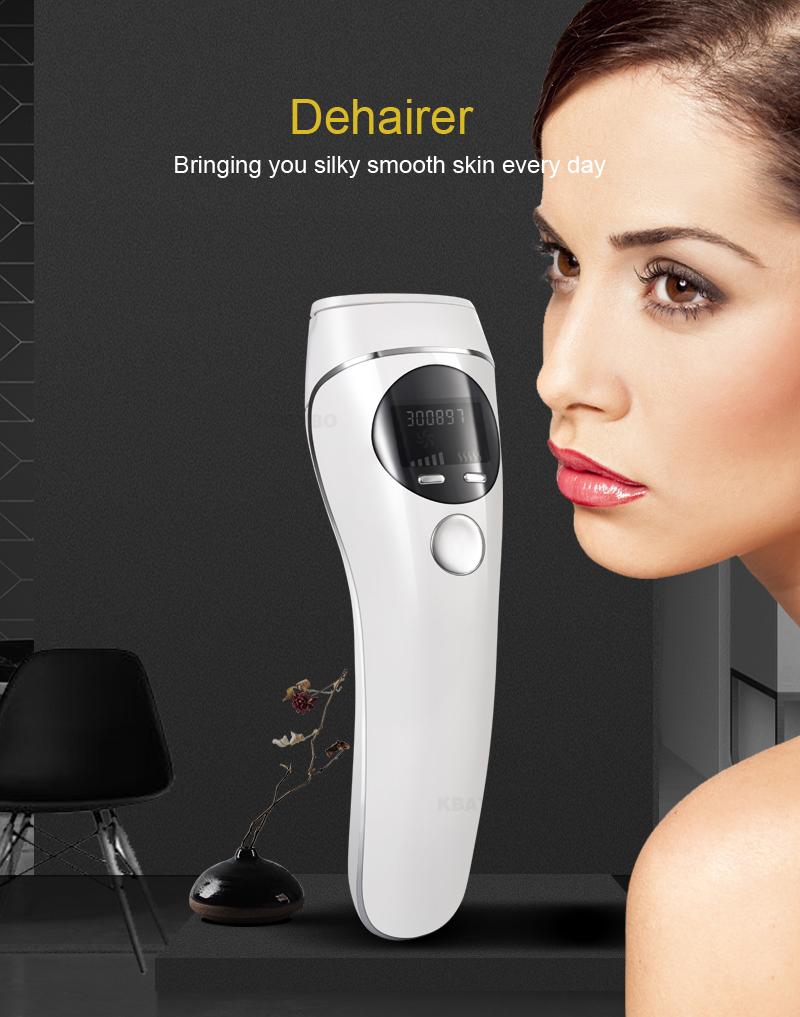 Macchina di esposizione permanente LCD del depilatore del depilatore del dispositivo di depilazione del laser di IPL Strumento di cura di bellezza del corpo del fronte di epilatore indolore e pulisca la pelle