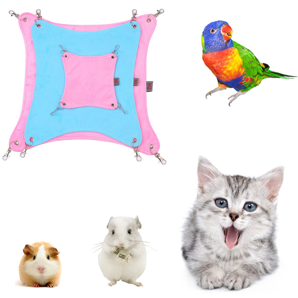 Bird Cages & Nests Learned Pet Cage Bed Mat Pad Hanging Ferret Hammock Bed Soft Cool Comfortable Mat Pad Hammock Use Kitten Parrot Small Animals Supplies