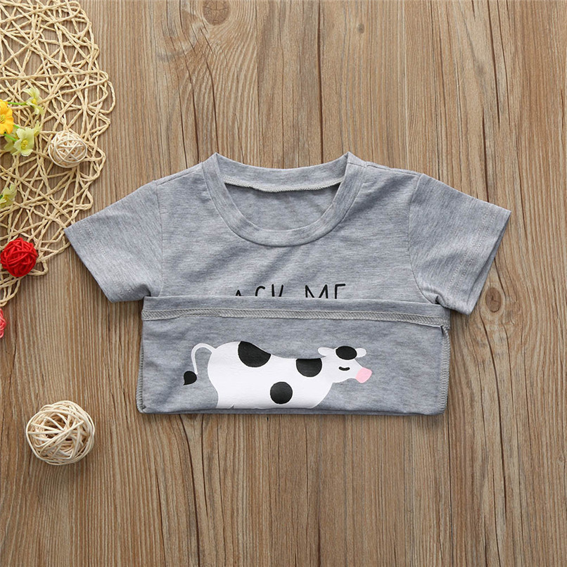 Summer Baby Boys Tops And Tees Toddler Kids Baby Boys Short Sleeve Letter Printing Tops T-Shirt Baby Boy Clothes M8Y18 (5)