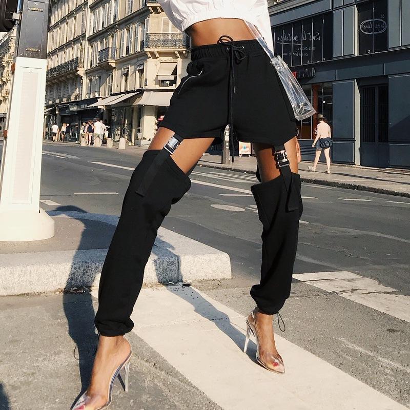Frauen Hosen Kunstleder Hosen Solide Mode Freizeit Bleistift Übergröße