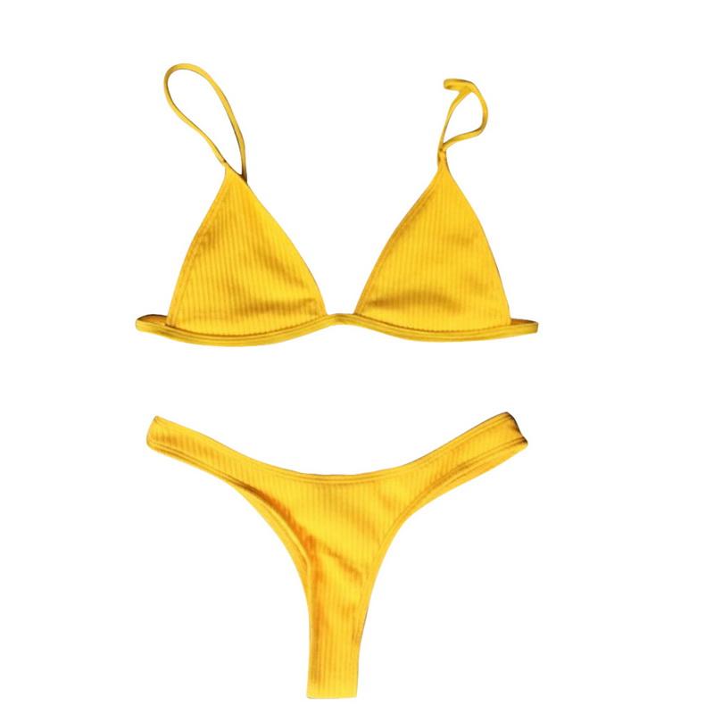 Новый женский сексуальный микро трусы комплект лето твердый износ высокой талией бразильский стринги купальный костюм майо де бейн монокини