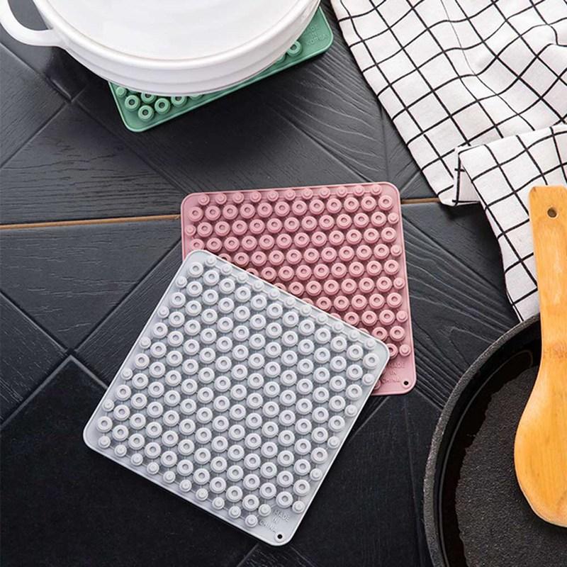 Poisson 2pcs Double Isolation Thermique 100/% coton sets de table de cuisine table de salle à manger Tapis