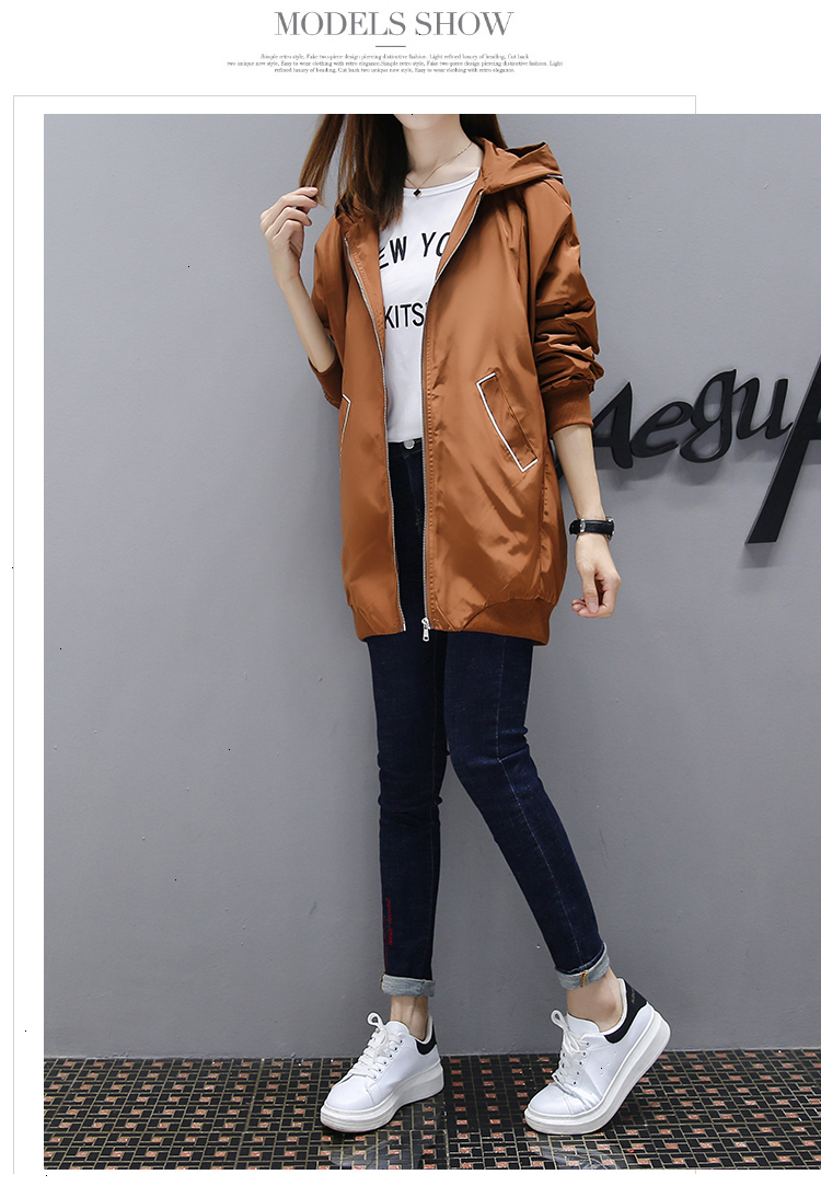 Fashion New Jackets Spring Autumn Womens Mid Casual Basic Coats Female Long Sleeve Outerwear Regular Ns4030 Lightweight Jackets Designer Jackets From