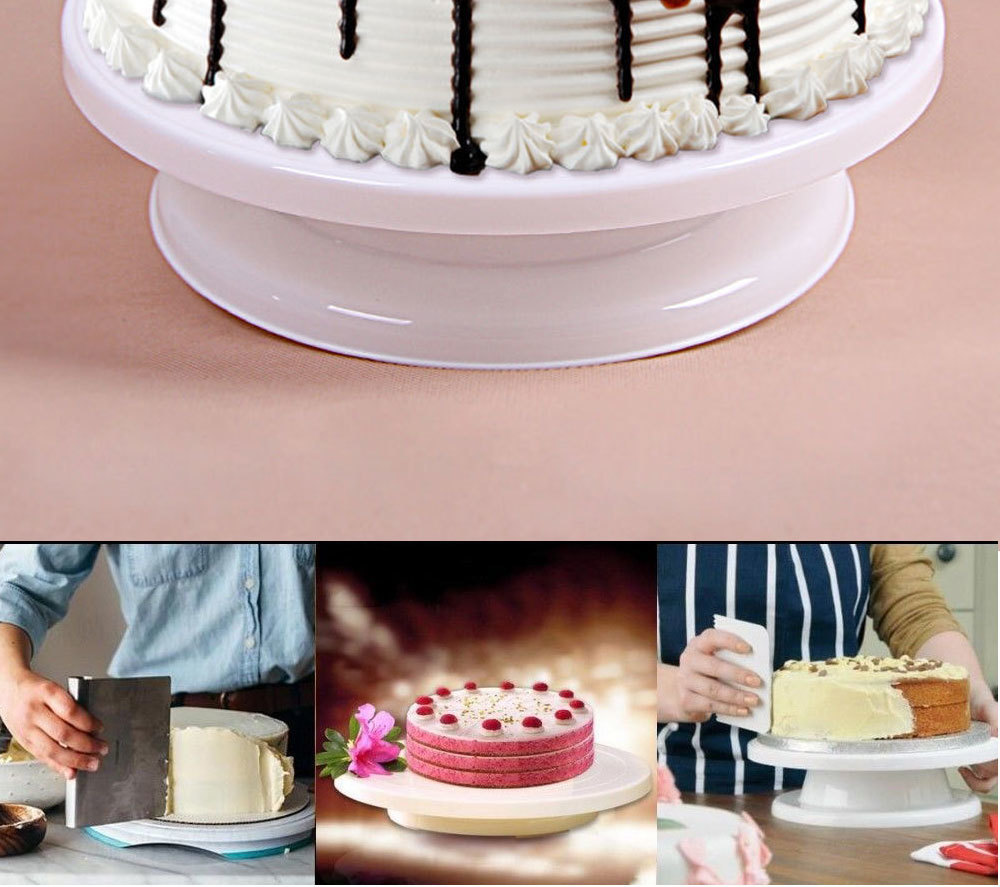 Buy Cake Decorating Turntable Get Scraper Free DIY 360 Rotating Display Turntables Round Cake Rotary Table Baking tools 132 (7)