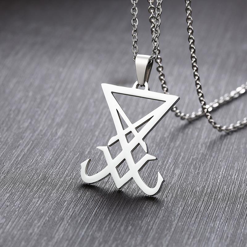 """Talisman de Lucifer Collier Pendentif Dainty occulte Diable Satan Satanique Amulet 24/"""""""