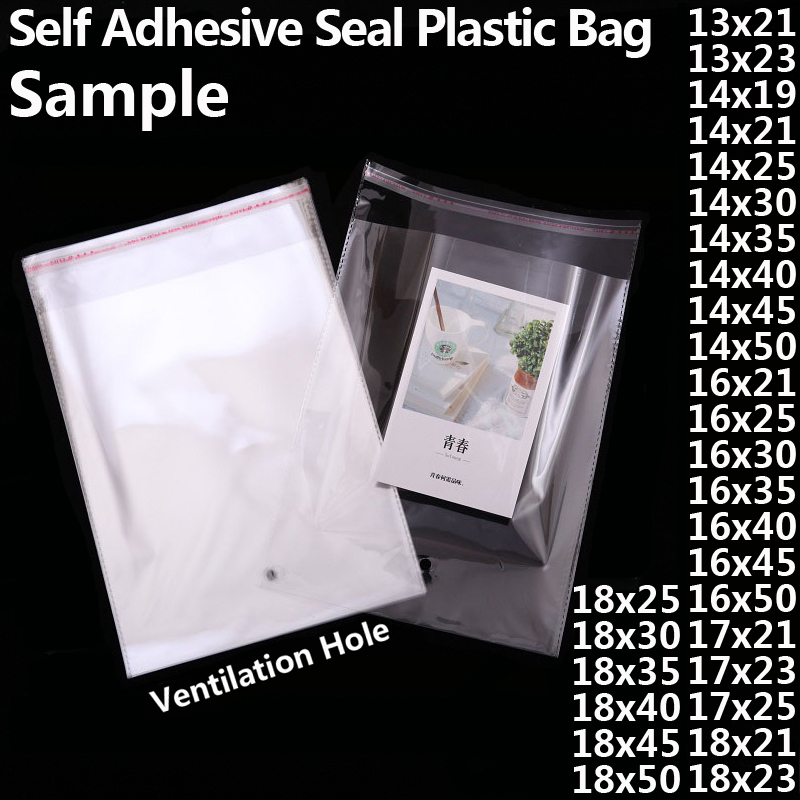 "Plastic Clear Self Adhesive Peal /& Seal Resealable Cellophane Bags 11/"" x 16/"""