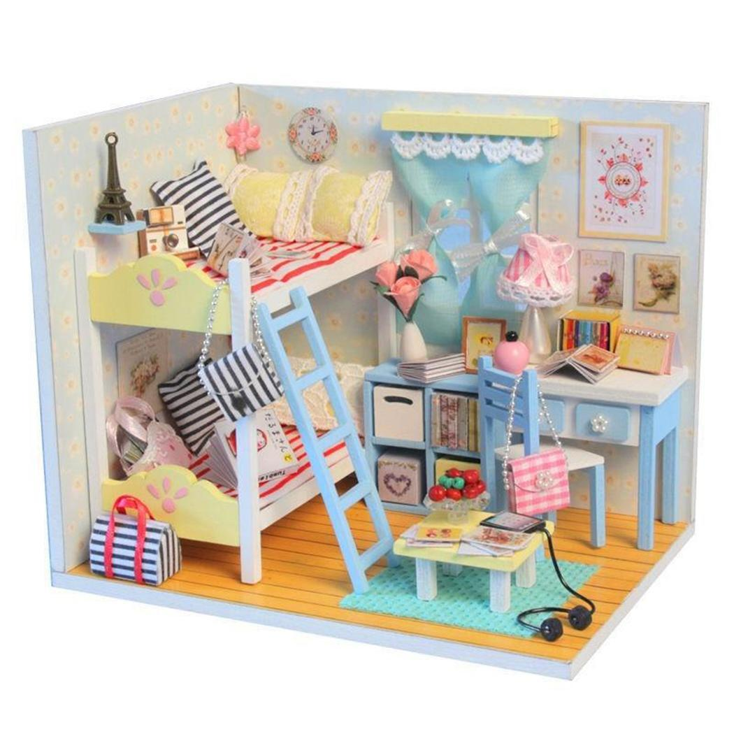 Families DIY Furniture Assembling House Toys Model Made of Eco-friendly paper Unisex Casual 3D Building House