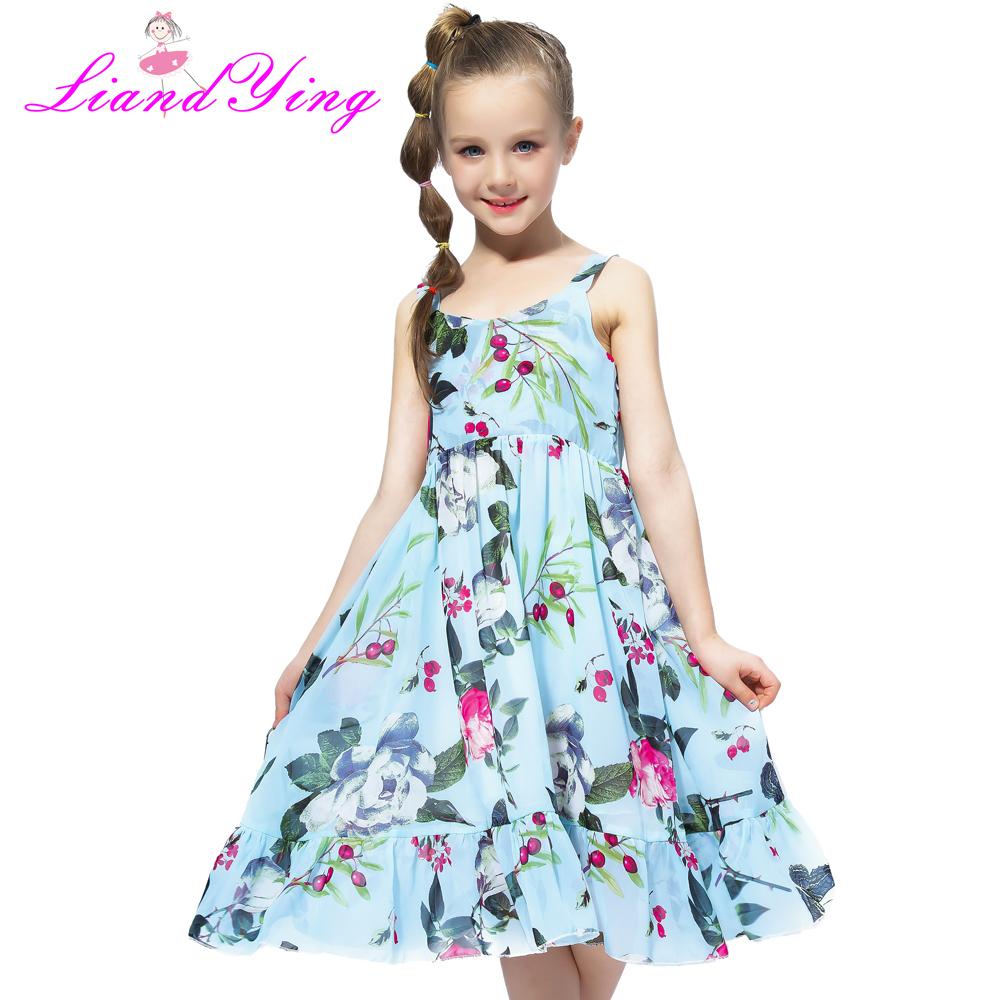 Compre Playa De Verano Ocasional Flor Princesa Adolescente Niños Vestido Floral Gasa Niños Niñas Vestido De Niña Vestido De Fiesta Q190522 A 1622