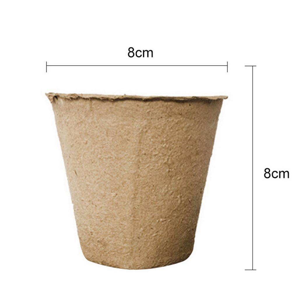 Fashion Garden Grow Pot Fibra Pulpa Inicio Plántulas Vegetales Frutas Plantas Pot Cup Fashion New Garden Grow Pot