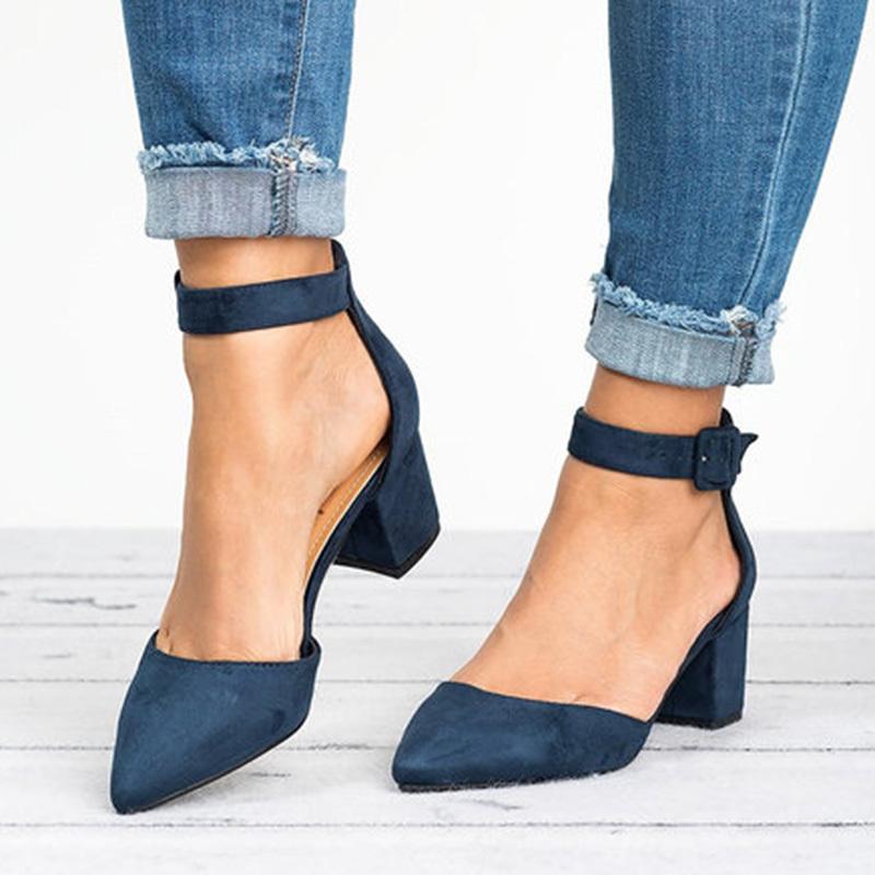 Da Donna Primavera Pompe Nuovo Tacco Piatto Scarpe Con Lacci Scarpe dita dei piedi quadrati in Pelle Oxford