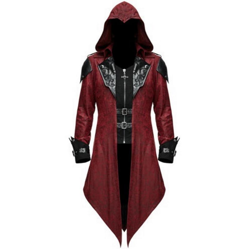 Retro Costume Steampunk Swalow Gothic Men Tailcoat Jacket Ringmaster Lang Coat