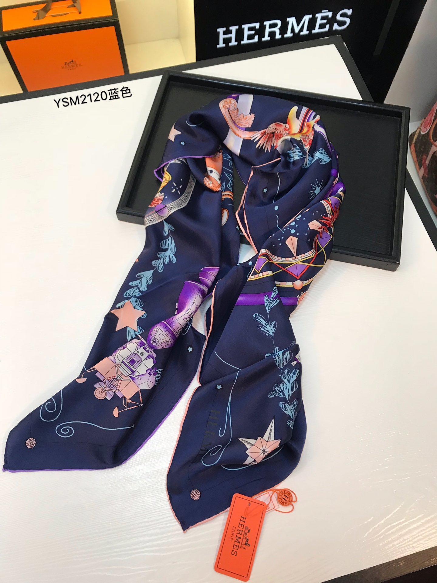 Bufanda de seda de mujer 2019 de alta calidad marca Bufanda cuadrada Chal Wraps Venta caliente estampado Bufanda Bufandas clásicas impresas tamaño 110 * 110 con caja