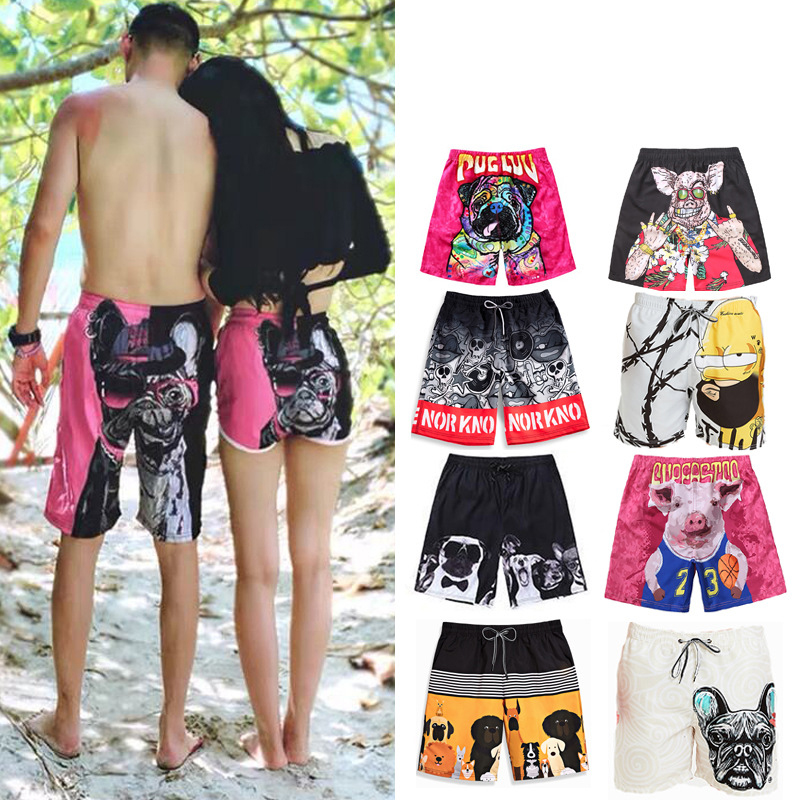 Letter Words Mens Swim Trunks Beach Holiday Casual Beach Surfing Swimming Shorts