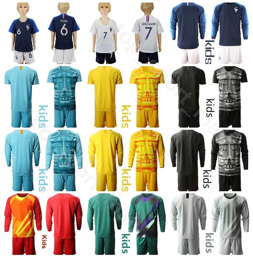 Boys Girls T-Shirts Shorts Sleeve Plain Football Set Soccer Jerseys Kids 3-13