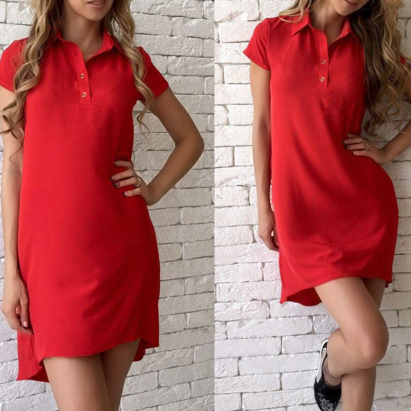 Elegant Office Summer Dresses Turn-down Collar Buttons Casual Women Sundress Female Sexy Pockets Shirts Dress Plus Size GV406