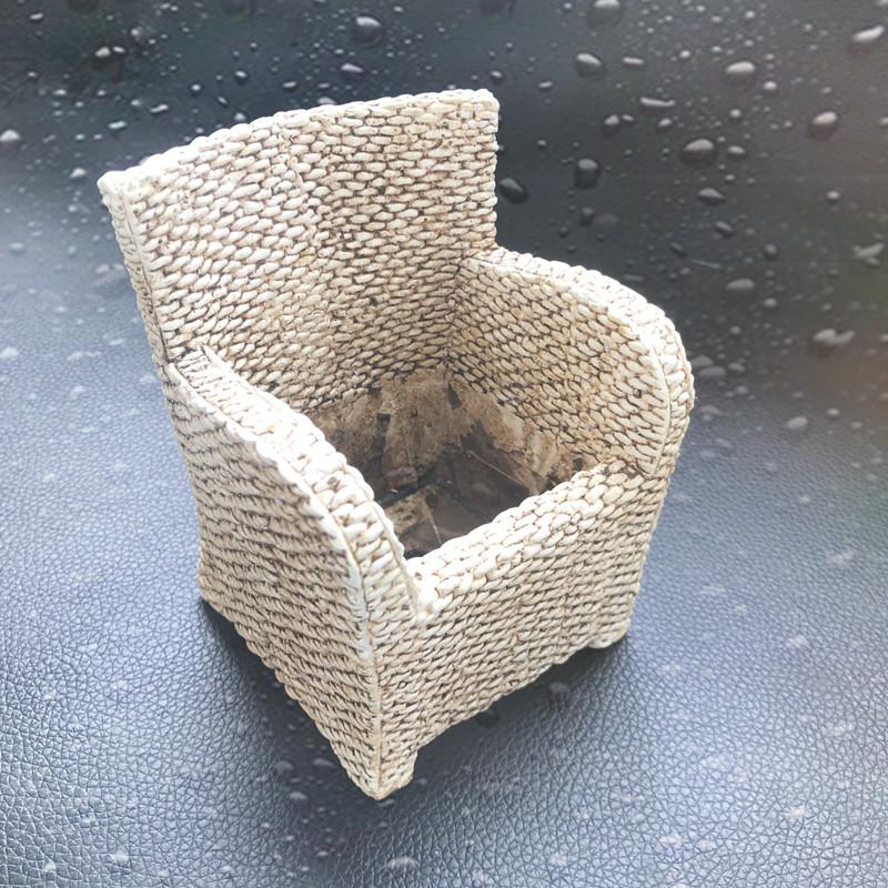 Molde de silicona de maceta de forma de silla hecha a mano de bricolaje para decoración de balcón casero Moldes de maceta de arcilla Molde de maceta de hormigón
