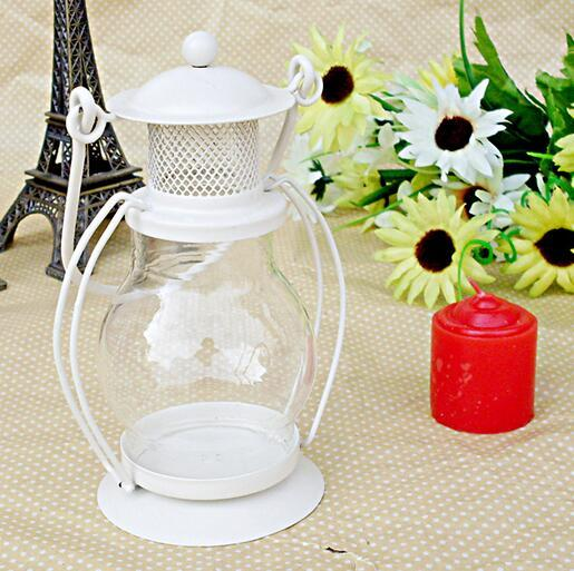 NO Candle Zakka Iron Candlestick Candle Holder Kerosene alcohol lamps Holiday gift Home decoration