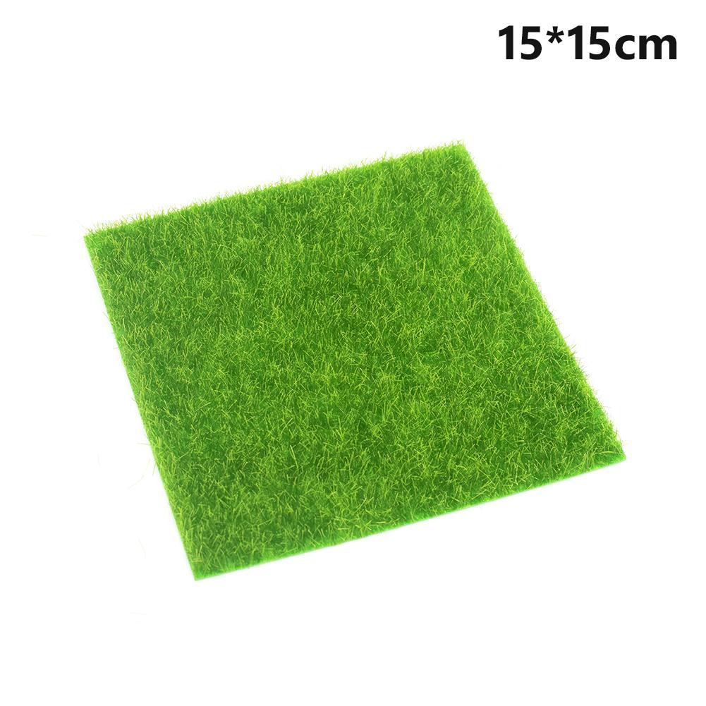 15x15cm 30x30cm Grass Mat Green Artificial Lawns Small Turf Carpets Fake Sod Home Garden Moss Home Floor Diy Wedding Decoration C19041302