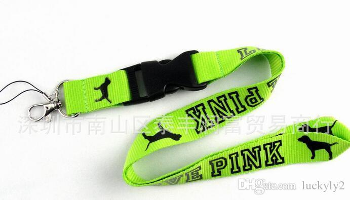 Wholesale Cellphone lanyard Straps Clothing Keys Chain ID cards Holder Detachable Buckle VS Love PINK Lanyards L001