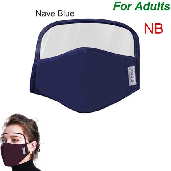 US Stock! 2020 Design 2 in 1 Face Mask Eyes Shield All-Around Protection Cotton Masks Eye Facial Integrated Protective Shield Mouth Mask