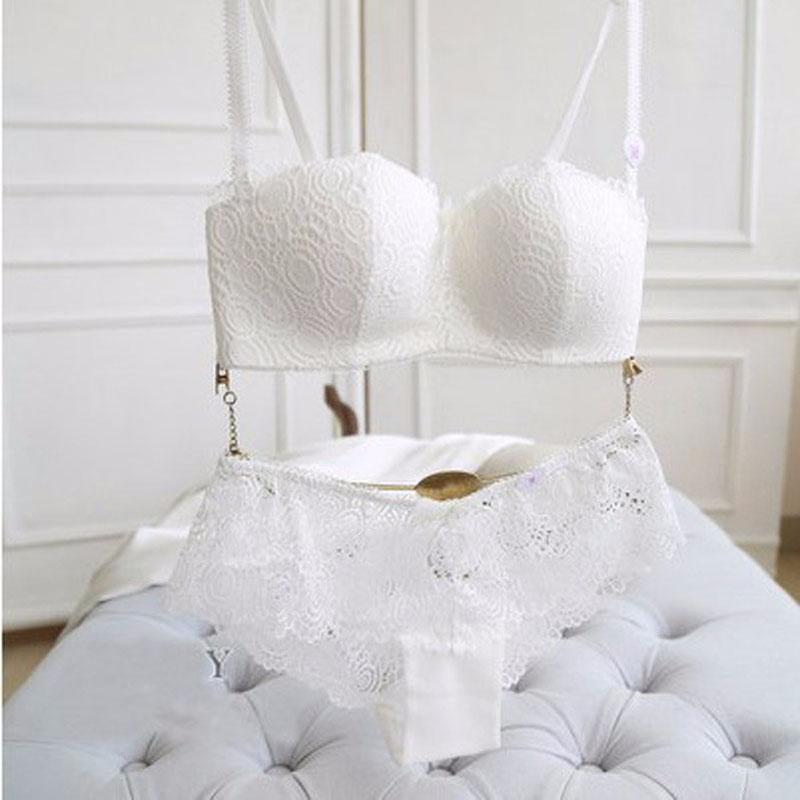 Jerrinut Sexy Lace Lingerie Set Women Underwear Seamless Push Up Bra Set Embroidery Ultra-thin Panties And Bra Set 18