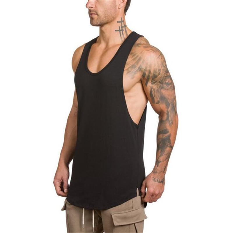 Brand Mens Sleeveless Shirts Summer Cotton Male Tank Tops Gyms Clothing Bodybuilding Undershirt Fitness Tanktops Tees C19042301