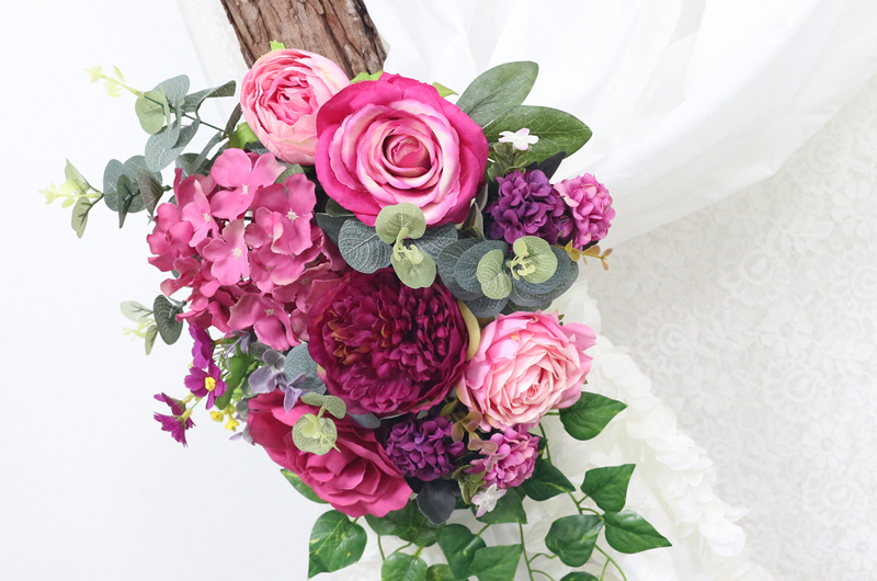 JAROWN Artificial Rose Flower Row Small Corner Flowers Simulation Silk Fake Flowers Wedding Decor Home Garland Decor Flores (11)