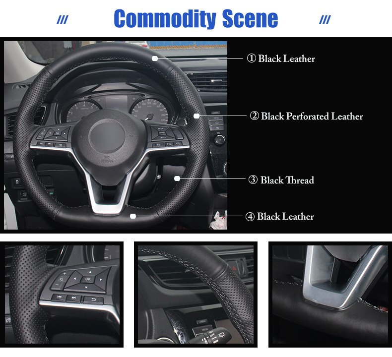 for Nissan X-Trail 2017 steering wheel covers