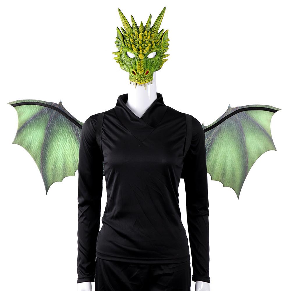 Economia Devil Costume Ali da demone donna Halloween fantasia Abito Outfit