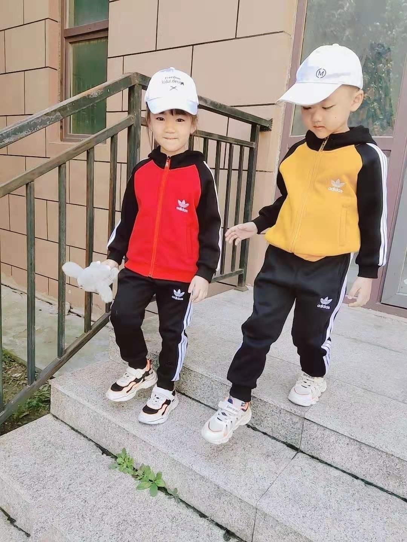 Due pezzi Leisure Suit attrezzature dei bambini della ragazza l'atletica in bambini puro cotone Bambini ragazze vestiti di autunno imposta 101607