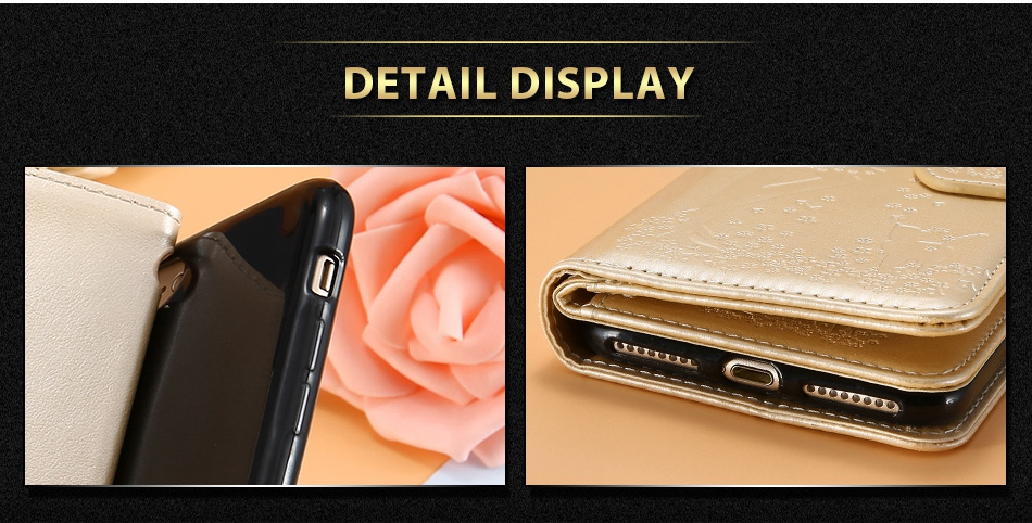 Leather Wallet Case For iPhone 7 6 6S Plus 5 5S SE Phone Cases (5)