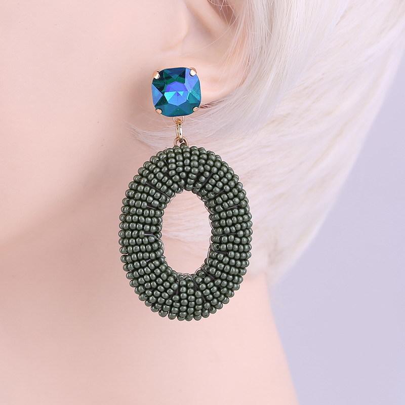 Earrings Military Green