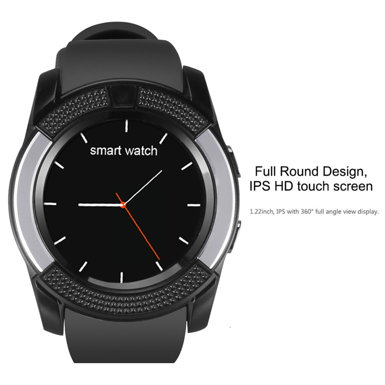 V8 Smart Watch With Sim TF Card Slots Bluetooth Smart Watches For Android Cellphones 0.3M Camera SmartWatch With Retail Package