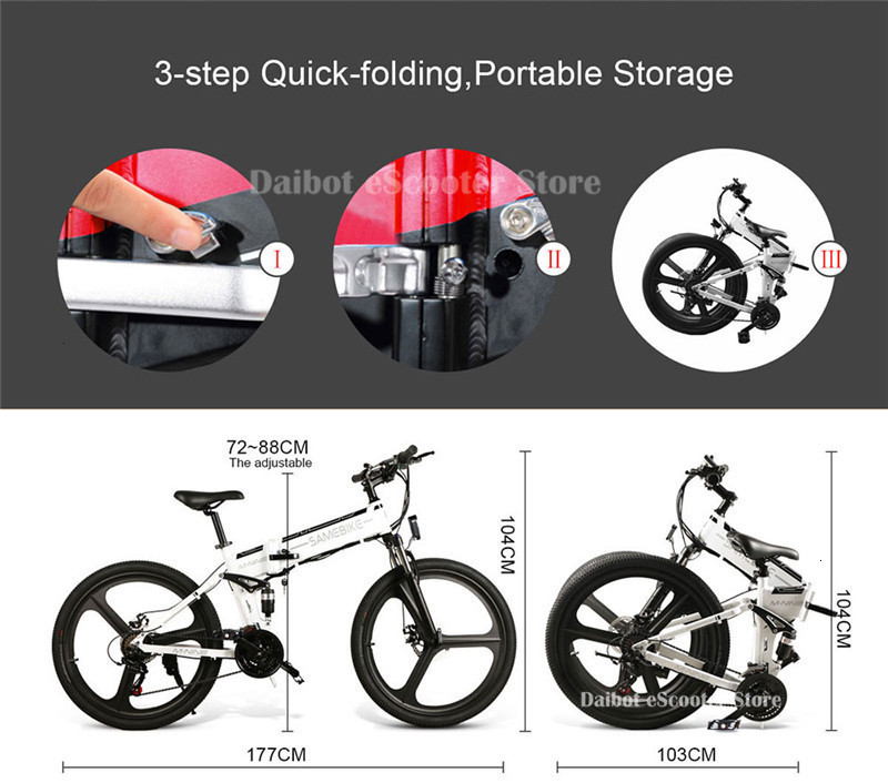 Powerful Electric Bicycle 2 Wheels Electric Bicycles 21 Speed 35KMH 48V 350W Folding Electric Scooter With Removable Battery (34)