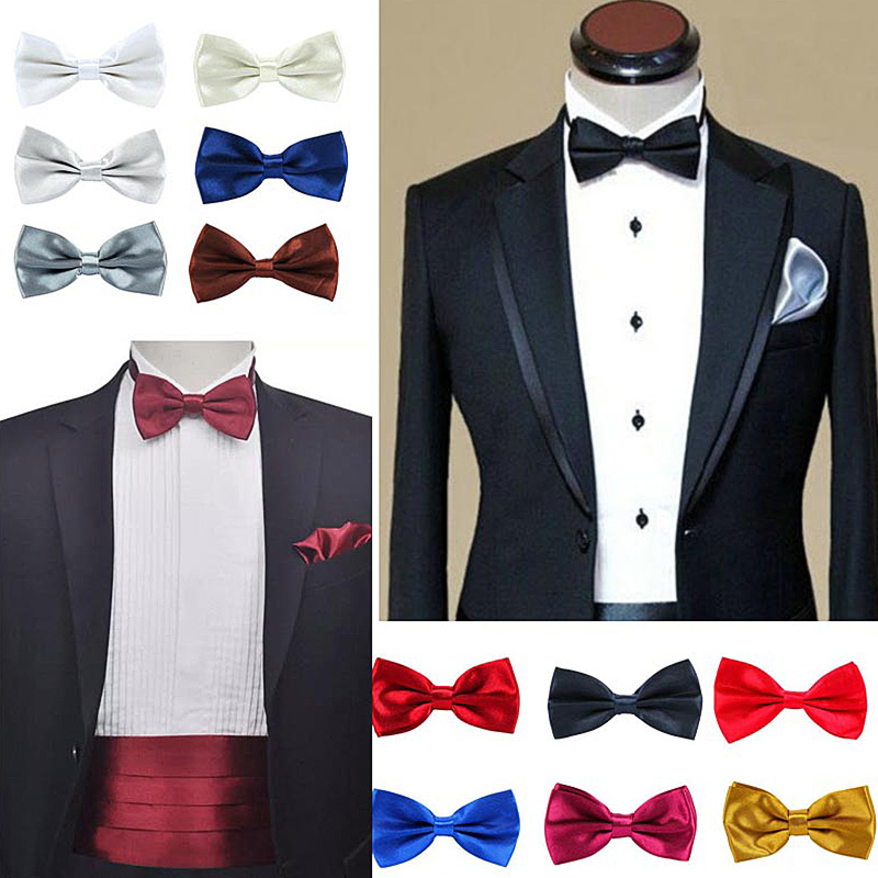 tie wedding fancy colours prom Dickie Bow luxury quality Silk suit